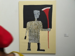Amadou Sanogo, Le dècideur, 2018. Foto fra utstillingen Siri Wolland.