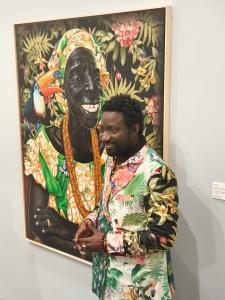 Artist JP Mika, foto fra utstillingen Siri Wolland