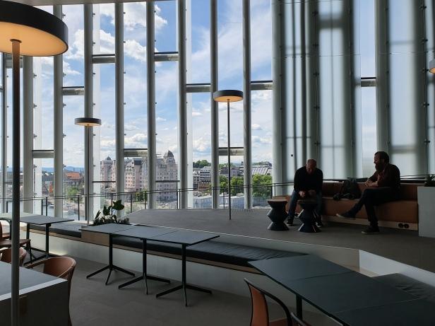 Kringsjå i Deichman Bjørvika, av arkitektene Lund Hagem og Atelier Oslo, 2020. Foto Siri Wolland.